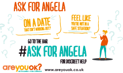 Ask For Angela - Window Sticker